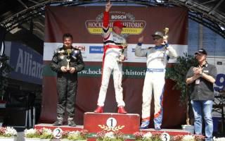 Das Podium der Klasse 3 mit Sieger Jorma Vanhanen (Porsche 997 GT3 WRS)