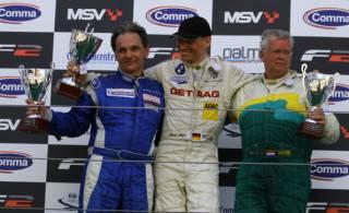 Podium Rennen 2 - Ulrich Becker, Michael Bäder, Rene Snel